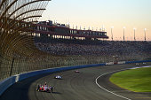 Scott Dixon of New Zealand driver of the Target Chip Ganassi Racing Dallara Chevrolet leads a pack of cars during the Verizon IndyCar Series MAVTV...