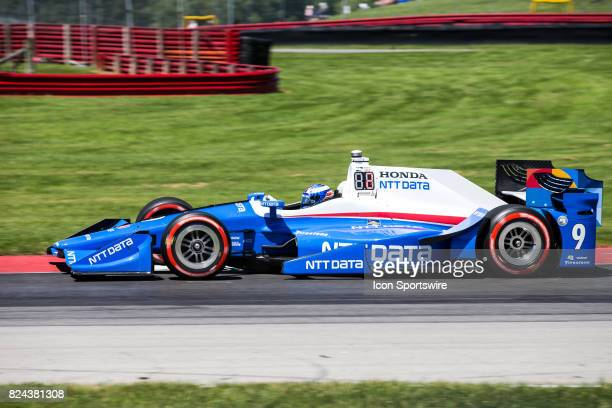 Scott Dixon of New Zealand drives the Honda IndyCar for Chip Ganassi Racing during qualifying for the Verizon IndyCar Series Honda Indy 200 at...