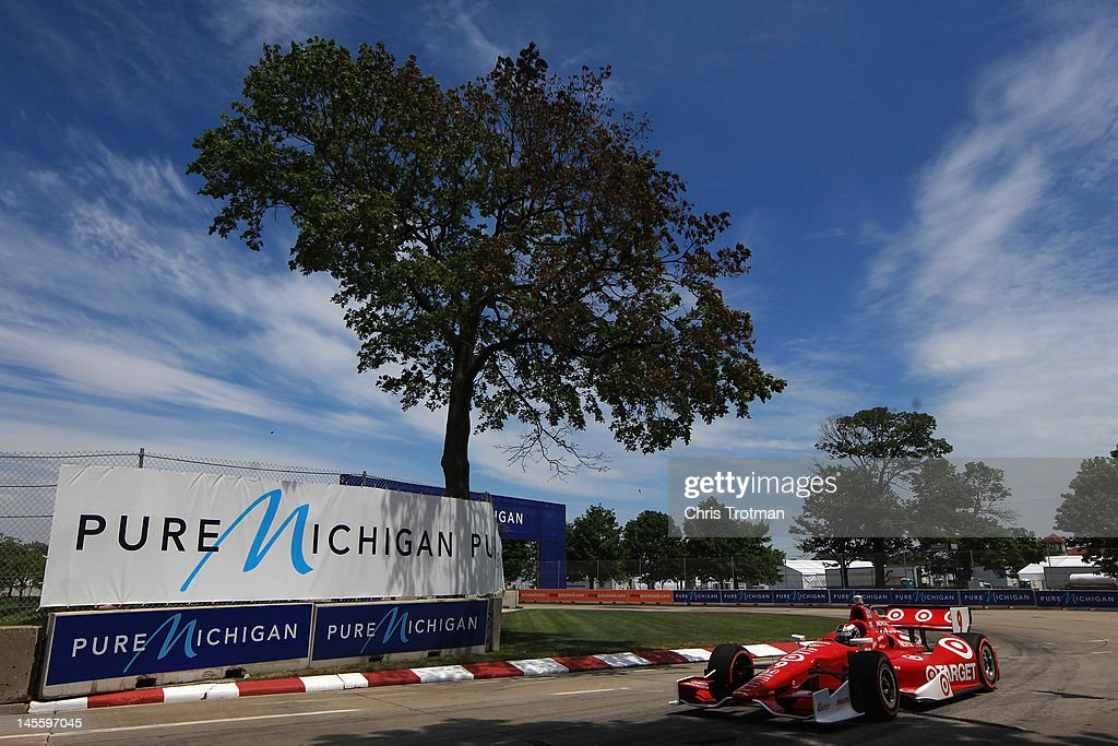 Scott Dixon of New Zealand, drives the #9 Target Chip Ganassi Racing Honda Dallara during qualifying for the IZOD INDYCAR Series Chevrolet Detroit Belle Isle Grand Prix on Belle Isle on June 2, 2012 in Detroit, Michigan.