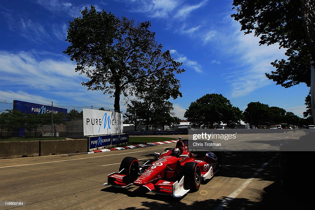 <a gi-track='captionPersonalityLinkClicked' href=/galleries/search?phrase=Scott+Dixon&family=editorial&specificpeople=183395 ng-click='$event.stopPropagation()'>Scott Dixon</a> of New Zealand, drives the #9 Target Chip Ganassi Racing Honda Dallara during qualifying for the IZOD INDYCAR Series Chevrolet Detroit Belle Isle Grand Prix on Belle Isle on June 2, 2012 in Detroit, Michigan.
