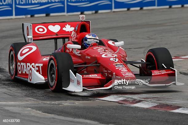 Scott Dixon of New Zealand drives the Target Chip Ganassi Racing Dallara Chevrolet during the Verizon IndyCar Series Honda Indy Toronto race 1 on the...