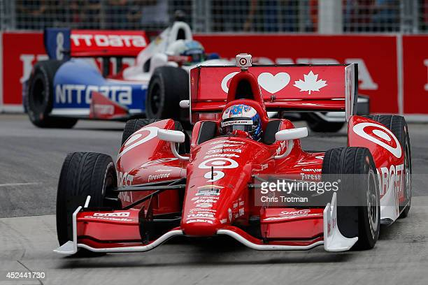 Scott Dixon of New Zealand drives the Target Chip Ganassi Racing Dallara Chevrolet during the Verizon IndyCar Series Honda Indy Toronto Race 2 on the...