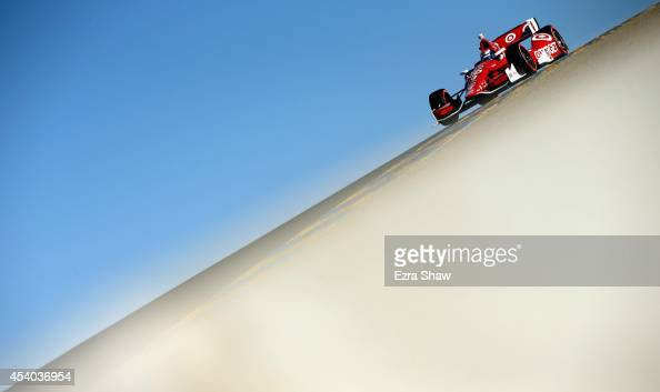 Scott Dixon of New Zealand drives the Target Chip Ganassi Racing Chevrolet during qualifying for the Verizon IndyCar Series GoPro Grand Prix of...