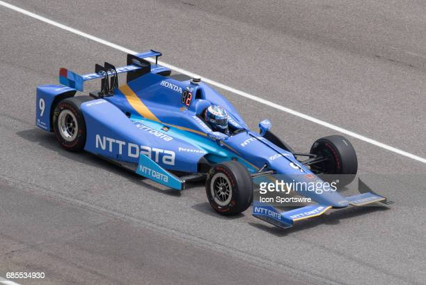 Scott Dixon on the fifth day of practice for the 101st Indianapolis on May 19 at the Indianapolis Motor Speedway in Indianapolis Indiana