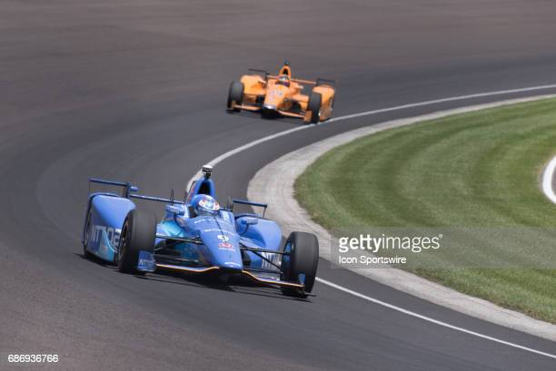 Scott Dixon on track during day six of practice for the 101st Indianapolis on May 22 at the Indianapolis Motor Speedway in Indianapolis Indiana
