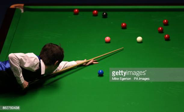Scott Donaldson during his match with Joe Perry during day seven of the williamhillcom UK Championships at The Barbican Centre York