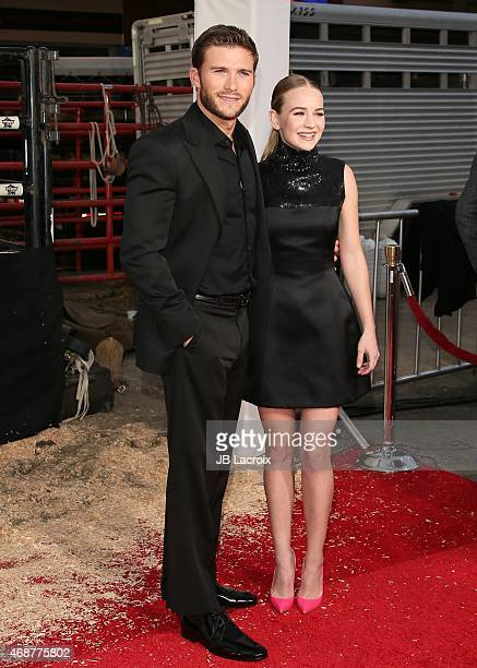 Scott Eastwood and Britt Robertson attend the premiere of Twentieth Century Fox's 'The Longest Ride' at the TCL Chinese Theatre IMAX on April 6 2015...