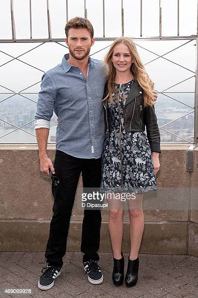 Scott Eastwood and Britt Robertson visit The Empire State Building on April 9 2015 in New York City