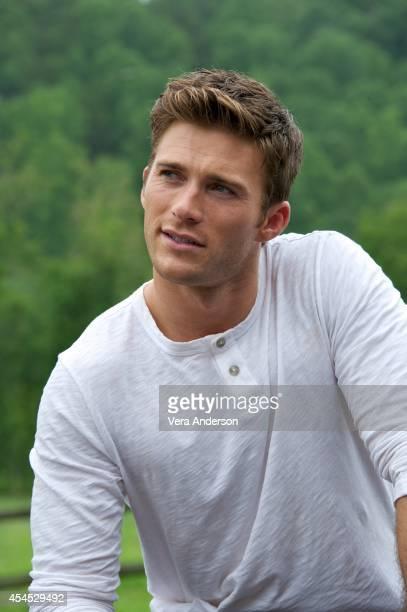 Scott Eastwood at 'The Longest Ride' set visit on August 12 2014 in Winston Salem North Carolina