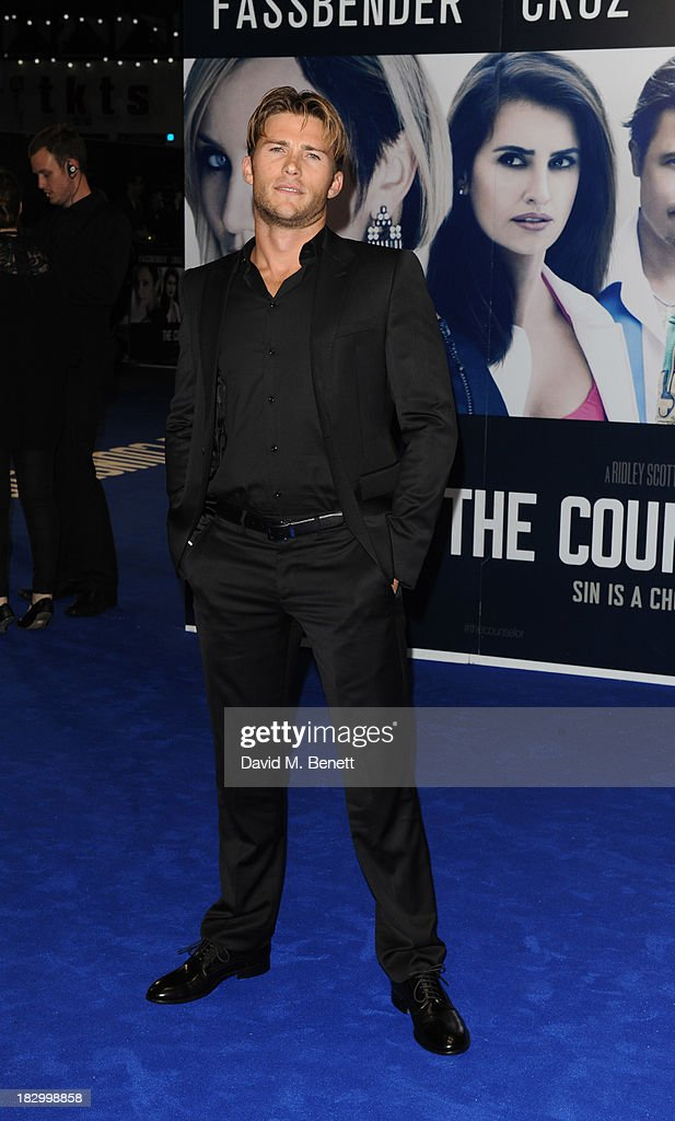 <a gi-track='captionPersonalityLinkClicked' href=/galleries/search?phrase=Scott+Eastwood&family=editorial&specificpeople=5793075 ng-click='$event.stopPropagation()'>Scott Eastwood</a> attends a special screening of 'The Counselor' at the Odeon West End on October 3, 2013 in London, England.