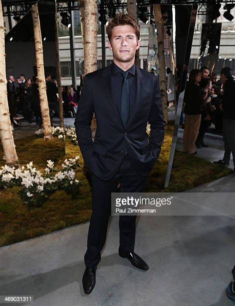 Scott Eastwood attends the Boss Women Show during MercedesBenz Fashion Week Fall 2014 at 250 West 55th Street on February 12 2014 in New York City
