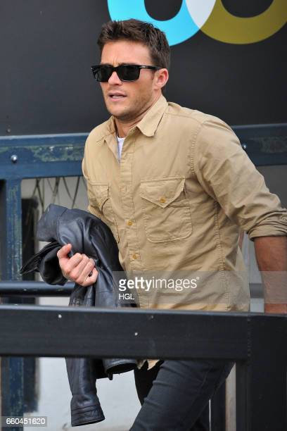 Scott Eastwood seen at the ITV Studios on March 30 2017 in London England