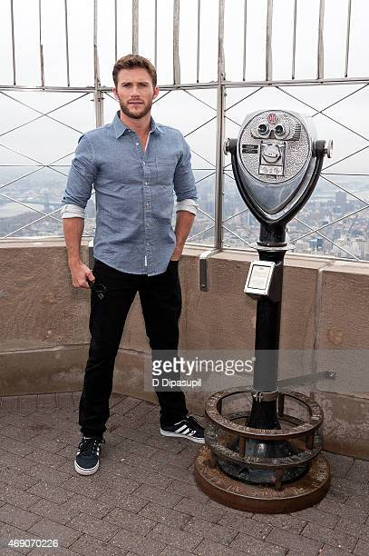 Scott Eastwood visits The Empire State Building on April 9 2015 in New York City