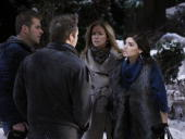 LIVE Scott Evans Scott Clifton Susan Haskell and Amanda Setton in a scene that airs the week of February 8 2010 on ABC Daytime's 'One Life to Live'...