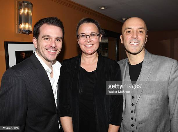 Scott Evans Wendy MacDonald Scott C Embler pictured at the Opening Night After Party for '7th Monarch' at Angus McIndoe Restaurant in New York City...