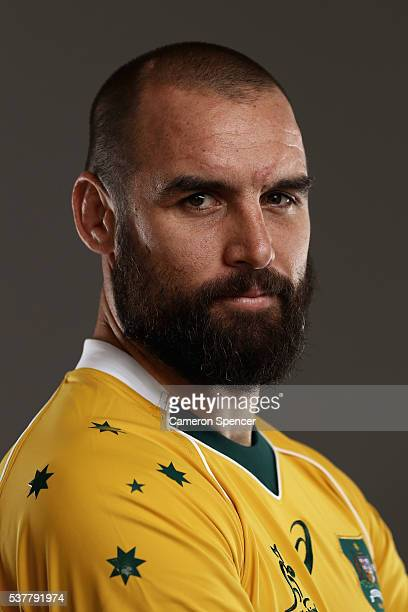 Scott Fardy of the Wallabies poses during an Australian Wallabies portrait session on May 30 2016 in Sunshine Coast Australia