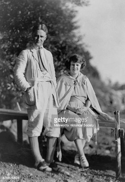 F Scott Fitzgerald and his wife Zelda at Dellwood in September 1921 one month before the birth of their son in St Paul MN