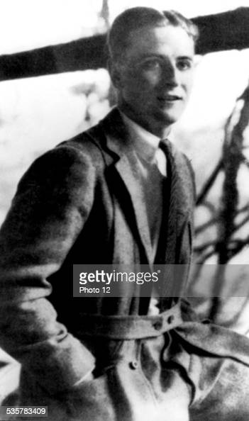 Scott Fitzgerald at the time of 'This Side of Paradise' photographed by the Royal Studio 20th century United States Paris Centre Benjamin Franklin