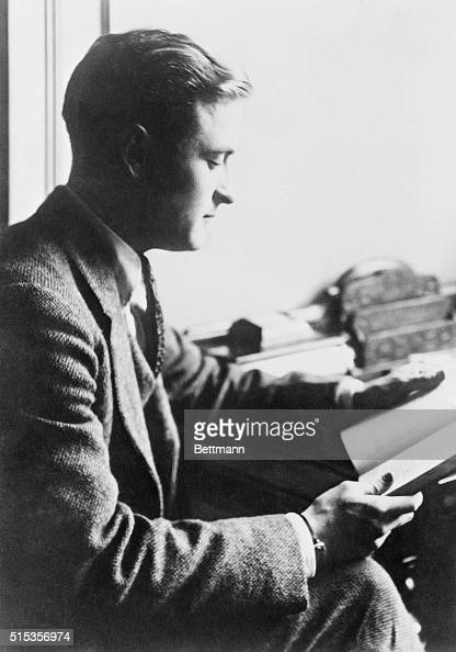 F Scott Fitzgerald reads at a desk Fitzgerald was one of the foremost writers of the postWorld War I 'Lost Generation' He authored The Great Gatsby...