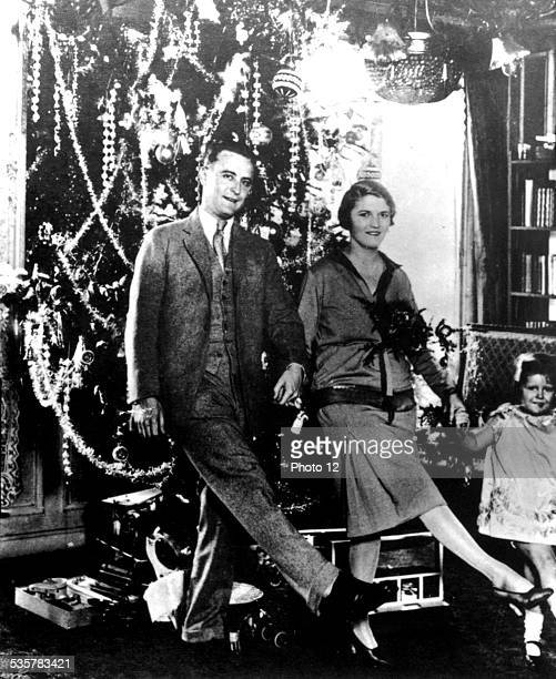 Scott Fitzgerald Zelda and Scottie celebrating Christmas 1926
