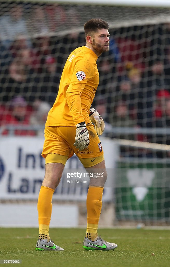 Scott Flinders of York City in action during the Sky Bet League Two match between Northampton Town and York City at Sixfields Stadium on February 6, 2016 in Northampton, England.