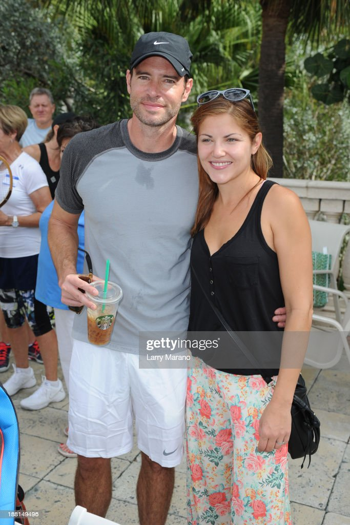 Scott Foley and Marika Dominczyk participate in 2013 Chris Evert ProCelebrity Tennis Classic Media Access at Boca Raton Resort on November 15 2013 in...