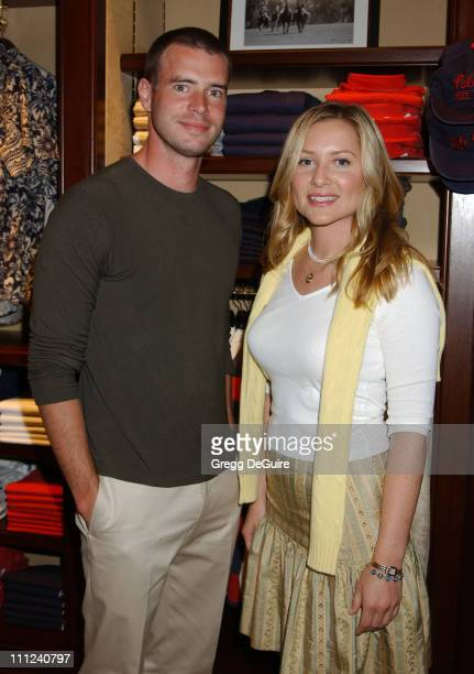 Scott Foley Jessica Capshaw during Vanity Fair Ralph Lauren Cocktail Party Benefiting Step Up Women's Network at Ralph Lauren Store in Beverly Hills...