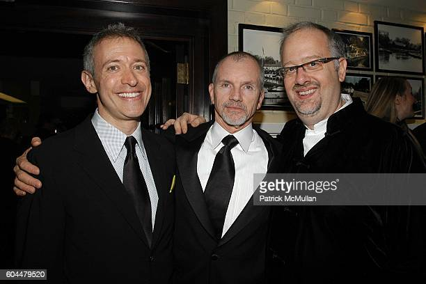 Scott Frankel Bill Maloney and Doug Wright attend GREY GARDENS Opening Night Party at The Boathouse in Central Park on November 2 2006 in New York...