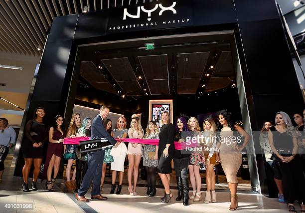 Scott Friedman and Nathalie Kristo SVP of Global Marketing and Business Development for NYX Cosmetics along with Today's top beauty influencers...