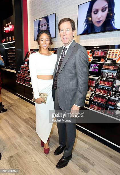 Scott Friedman SVP of Global Marketing and Business Development for NYX Cosmetics and Top Beauty Influencer Aja Dang @ajadang attend the NYX...