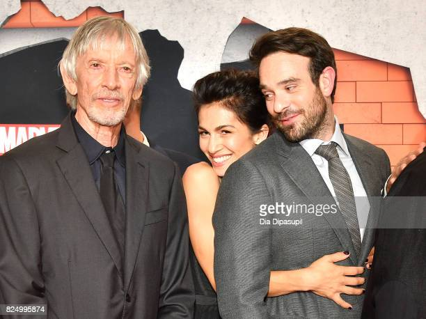 Scott Glenn Elodie Yung and Charlie Cox attend the 'Marvel's The Defenders' New York Premiere at Tribeca Performing Arts Center on July 31 2017 in...