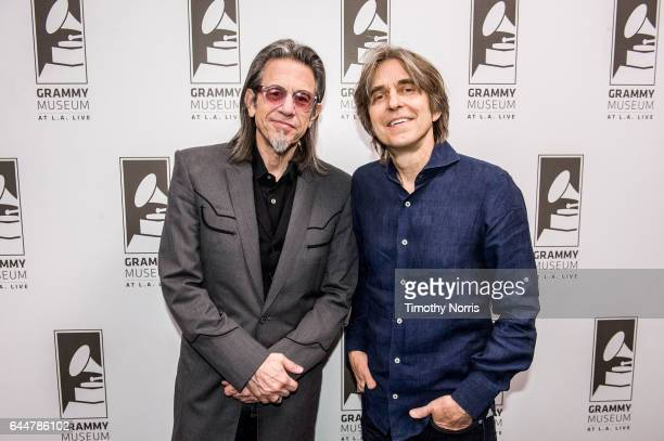 Scott Goldman and Eric Johnson attend Great Guitars Eric Johnson at The GRAMMY Museum on February 23 2017 in Los Angeles California