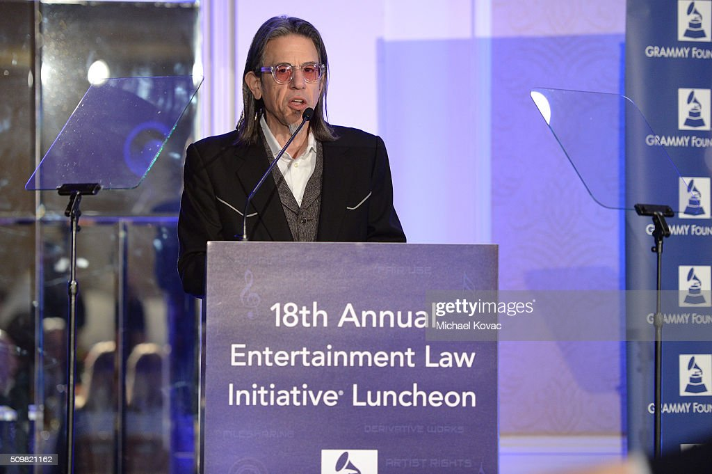 <a gi-track='captionPersonalityLinkClicked' href=/galleries/search?phrase=Scott+Goldman&family=editorial&specificpeople=2748376 ng-click='$event.stopPropagation()'>Scott Goldman</a>, VP of the Grammy Foundation, speaks onstage at The 58th GRAMMY Awards Entertainment Law Initiative at Fairmont Miramar Hotel on February 12, 2016 in Santa Monica, California.