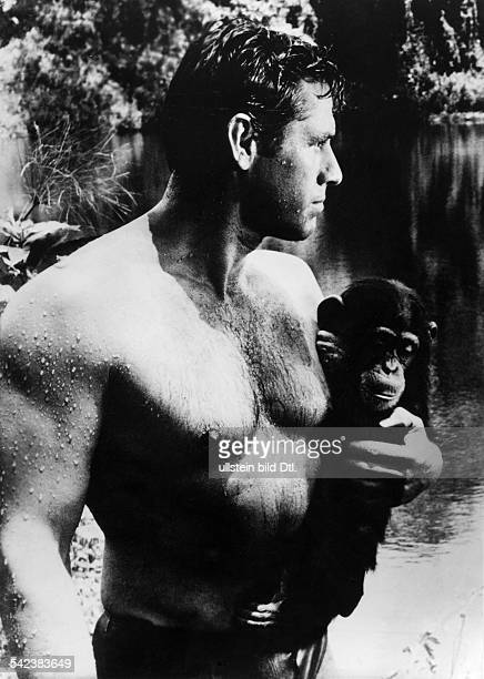 Scott Gordon Actor USA * Scene from the movie 'Tarzan's Greatest Adventure'' Directed by John Guillermin USA 1959 Vintage property of ullstein bild