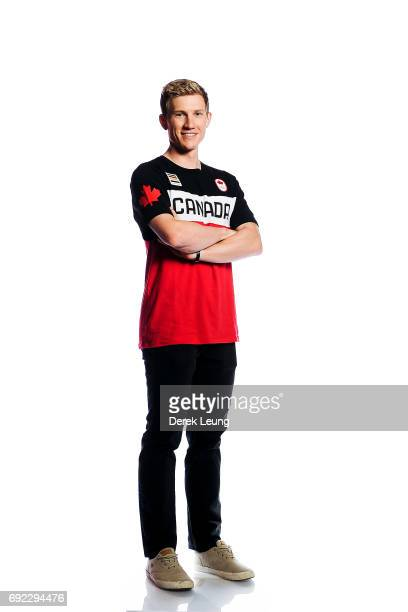 Scott Gow poses for a portrait during the Canadian Olympic Committee Portrait Shoot on June 4 2017 in Calgary Alberta Canada