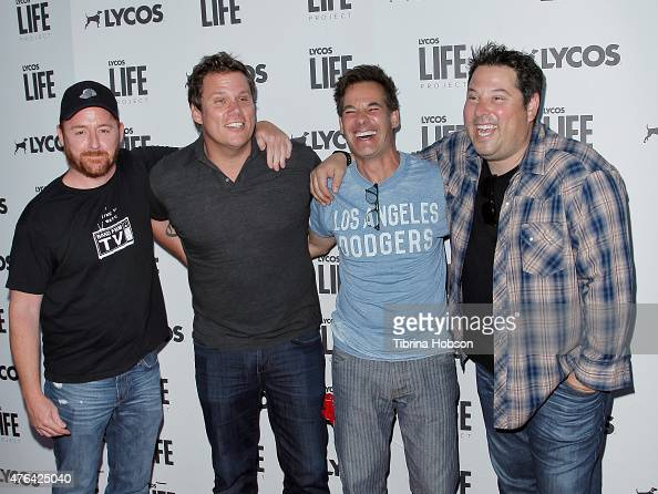 Scott Grimes Bob Guiney Adrian Pasdar and Greg Grunberg attend the LYCOS life project launch party on June 8 2015 in North Hollywood California