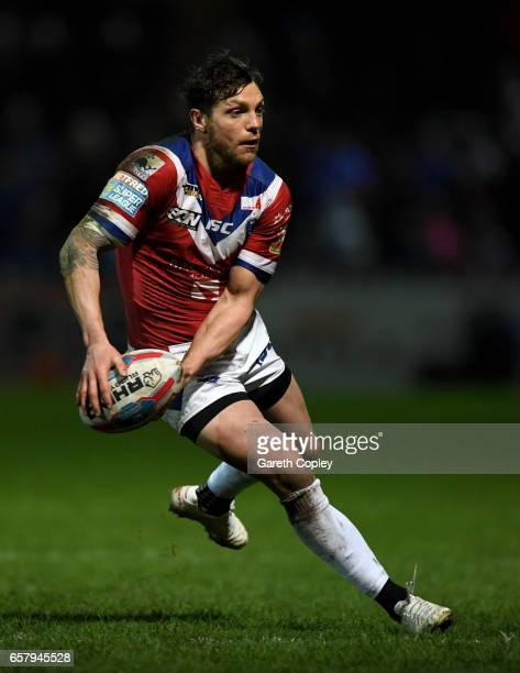 Scott Grix of Wakefield during the Betfred Super League match between Wakefield Trinity and Leigh Centurions at Belle Vue on March 23 2017 in...