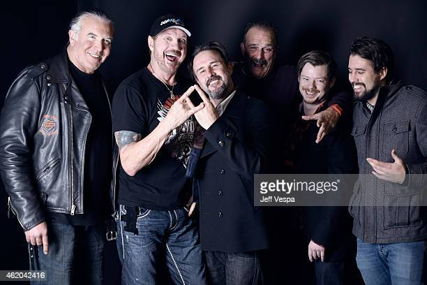 Scott Hall Diamond Dallas Page David Arquette Jake 'The Snake' Roberts and guests from 'The Resurrection of Jake The Snake Roberts' pose for a...