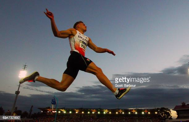 Scott Hall of England competes in the Mixed Long Jump event during the Melbourne Nitro Athletics Series at Lakeside Stadium on February 11 2017 in...