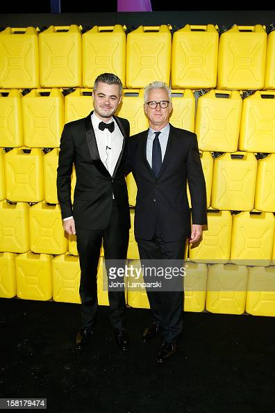 Scott Harrison and John Slattery attend 7th Annual Charity Ball Benefiting CharityWater at the 69th Regiment Armory on December 10 2012 in New York...