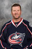 Scott Hartnell of the Columbus Blue Jackets poses for his official headshot for the 20152016 season at Ohio Health on September 17 2015 in Columbus...
