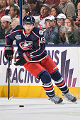 Scott Hartnell of the Columbus Blue Jackets skates against the Dallas Stars on October 14 2014 at Nationwide Arena in Columbus Ohio