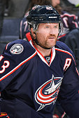 Scott Hartnell of the Columbus Blue Jackets skates against the Arizona Coyotes on November 14 2015 at Nationwide Arena in Columbus Ohio