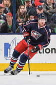 Scott Hartnell of the Columbus Blue Jackets skates against the Detroit Red Wings on March 17 2016 at Nationwide Arena in Columbus Ohio
