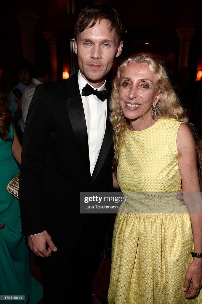 Scott Haze and Franca Sozzani attend Bungalow 8 James Franco Venice Film Festival Premiere Party for Child of God and Palo Alto during the 70th...