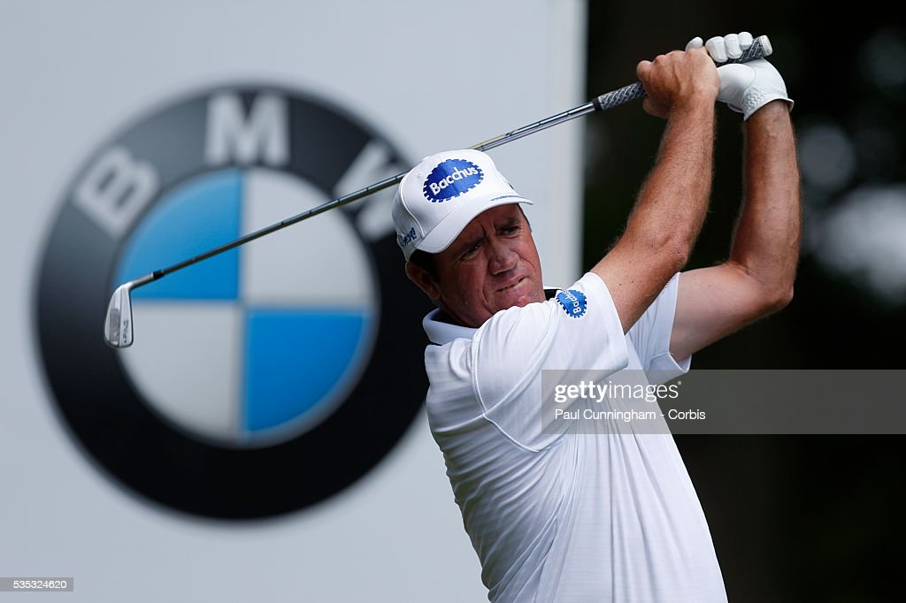 <a gi-track='captionPersonalityLinkClicked' href=/galleries/search?phrase=Scott+Hend&family=editorial&specificpeople=561652 ng-click='$event.stopPropagation()'>Scott Hend</a> hits his tee shot at the 4th hole during day two of the BMW PGA Championship at Wentworth on May 27, 2016 in Virginia Water, England.