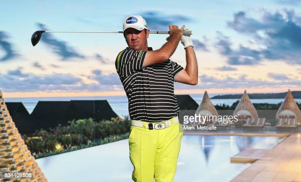 Scott Hend of Australia hits his tee shot on the 17th hole during day two of the 2017 Fiji International at Natadola Bay Championship Golf Course on...
