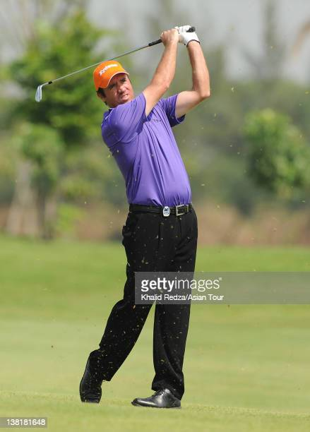 Scott Hend of Australia in action during day three of the Zaykabar Myanmar Open Presented by Air Bagan at the Royal Mingalardon Golf and Country Club...