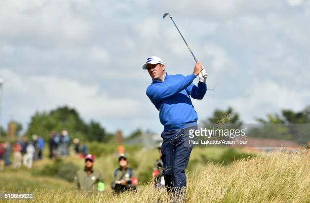 Scott Hend of Australia plays a shot on the 2nd hole at Royal Birkdale on July 20 2017 in Southport England