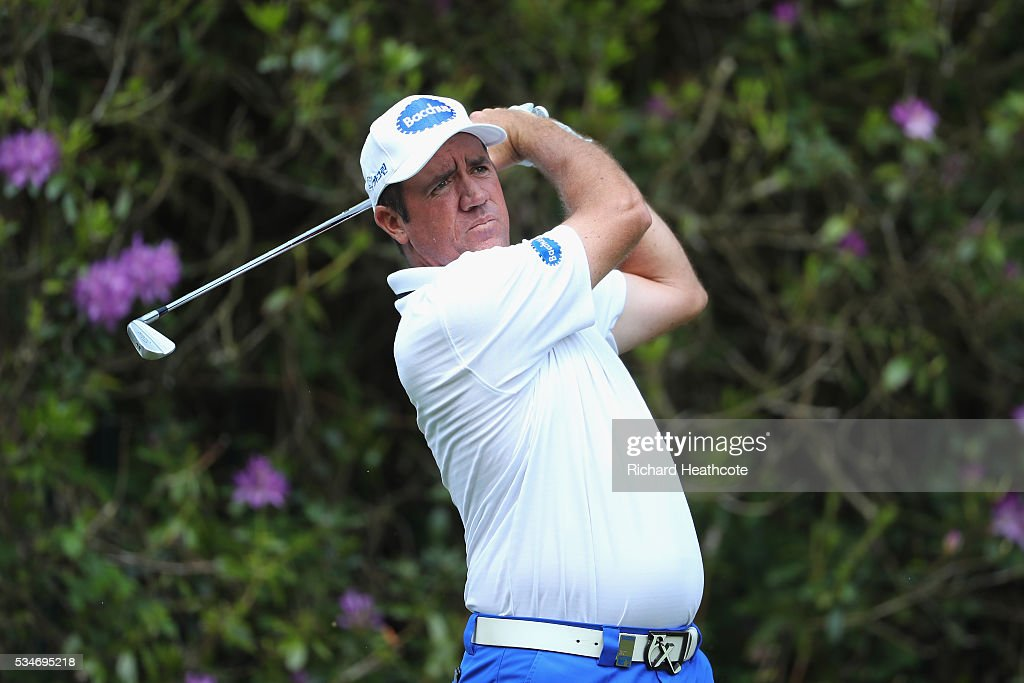<a gi-track='captionPersonalityLinkClicked' href=/galleries/search?phrase=Scott+Hend&family=editorial&specificpeople=561652 ng-click='$event.stopPropagation()'>Scott Hend</a> of Australia tees off on the 7th hole during day two of the BMW PGA Championship at Wentworth on May 27, 2016 in Virginia Water, England.